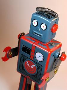 QSH – Tin Wind Up – Mechanical Robot (Giant Easelback Robot) – Close Up